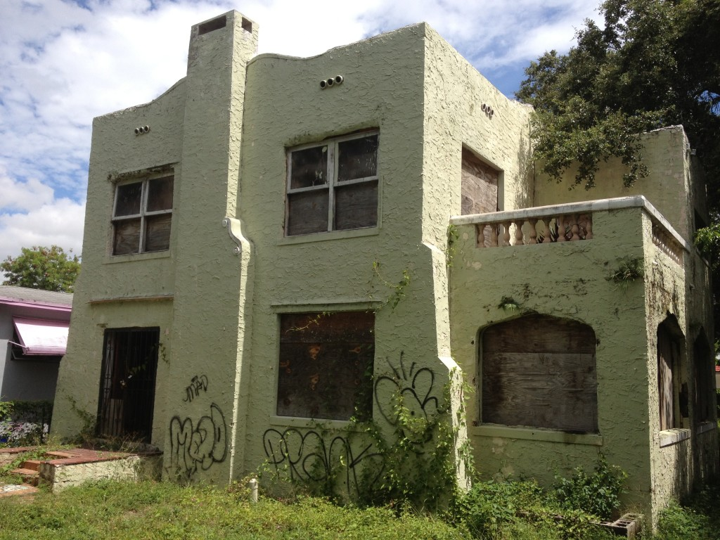 Needs serious TLC, but would be a gem if restored.