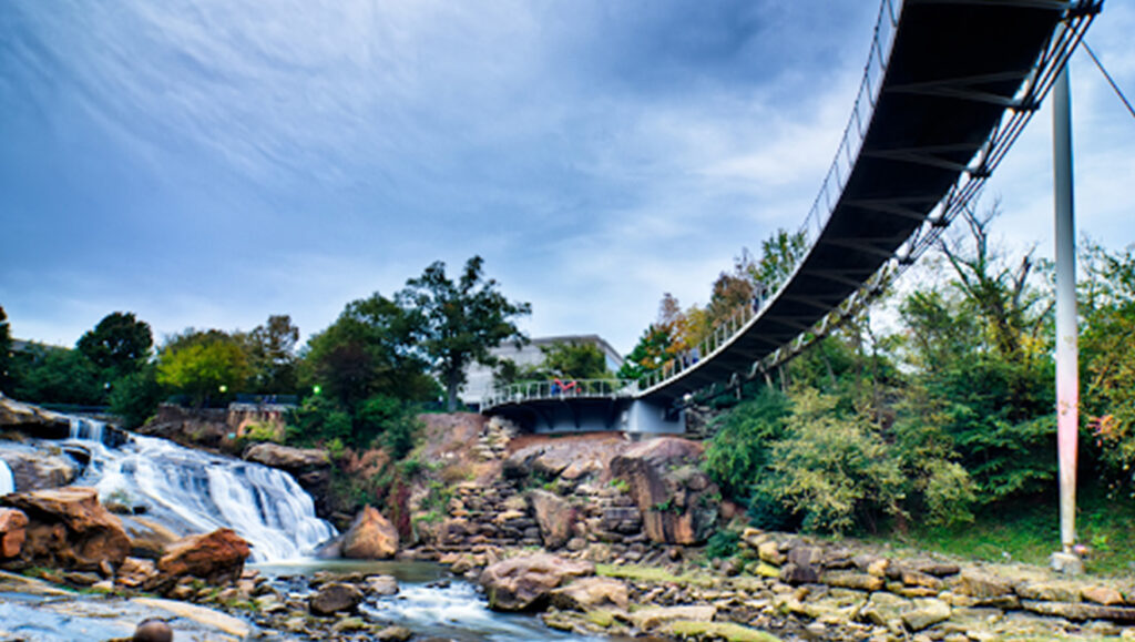 Falls Park on the Reedy River in Greenville, SC