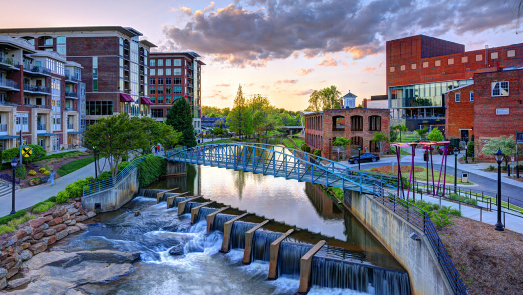 Falls Park on the Reedy in downtown Greenville, SC