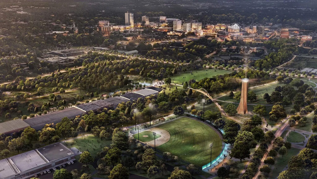 Future Unity Park site in Greenville, SC