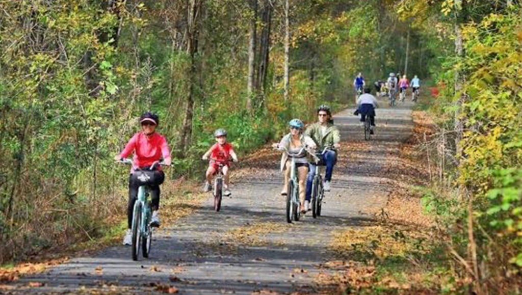 The Swamp Rabbit Trail in Greenville, SC